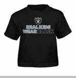 Oakland Raiders Juvenile Real Kids Wear Black Tee