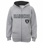 Oakland Raiders Juvenile Stated Full Zip Hood