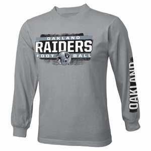 Oakland Raiders Juvenile Straight Up Long Sleeve Tee - Click to enlarge