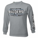 Oakland Raiders Juvenile Straight Up Long Sleeve Tee