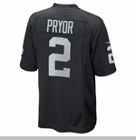 Oakland Raiders Juvenile Terrelle Pryor Black Game Jersey