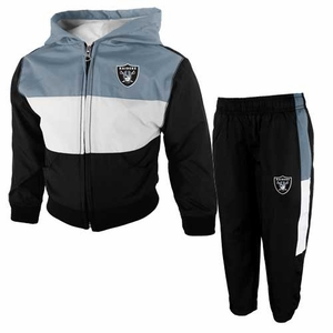 Oakland Raiders Juvenile Tri-Color Jacket & Pant Set - Click to enlarge