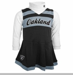Oakland Raiders Juvenile Two Piece Cheerleader Set