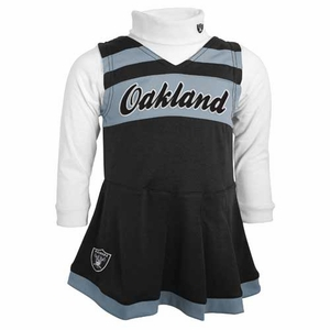 Oakland Raiders Juvenile Two Piece Cheerleader Set - Click to enlarge