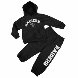 Oakland Raiders Juvenile Two Piece Fleece and Pant Set - Click to enlarge