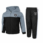 Oakland Raiders Juvenile Two Piece Full Zip Top & Pant Set