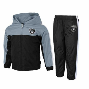 Oakland Raiders Juvenile Two Piece Full Zip Top & Pant Set - Click to enlarge