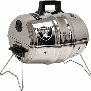 Oakland Raiders Keg Charcoal Barbecue Grill - Click to enlarge