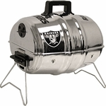 Oakland Raiders Keg Charcoal Barbecue Grill