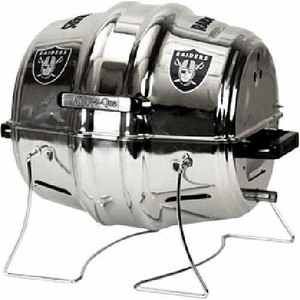 Oakland Raiders Keg Propane Barbecue Grill - Click to enlarge