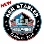 Oakland Raiders Ken Stabler Hall Of Fame Lapel Pin