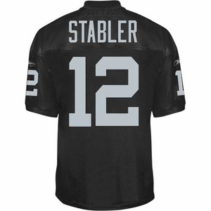 Oakland Raiders Ken Stabler Reebok Authentic Black Jersey - Click to enlarge