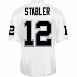 Oakland Raiders Ken Stabler Reebok Authentic White Jersey - Click to enlarge