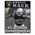 Oakland Raiders Khalil Mack Limited Defensive Player of the Year Pin