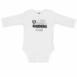 Oakland Raiders L/S White Bodysuit - Click to enlarge