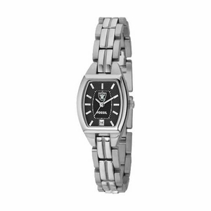 Oakland Raiders Ladies Cushion Watch - Click to enlarge