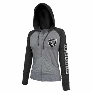 Oakland Raiders Ladies Full Zip Hood - Click to enlarge
