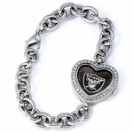 Oakland Raiders Ladies Heart Watch
