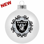 "Oakland Raiders Large 3 1/4"" Ornament"