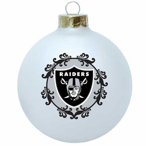 Oakland Raiders Large Ornament - Click to enlarge