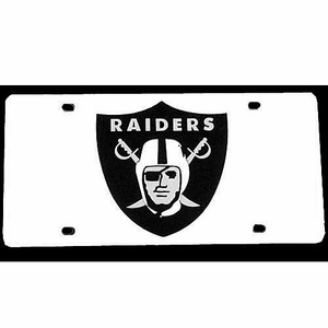 Oakland Raiders Laser Engraved Auto Tag - Click to enlarge