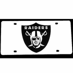 Oakland Raiders Laser Engraved Auto Tag