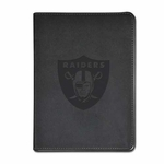 Oakland Raiders Laser Etched Colored Journal 4 Inch Logo