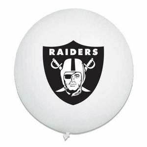 Oakland Raiders Latex White Punch Ball - Click to enlarge