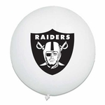 Oakland Raiders Latex White Punch Ball