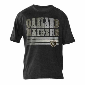 Oakland Raiders League Tri Blend Tee - Click to enlarge