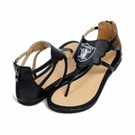 Oakland Raiders Leather Sandal