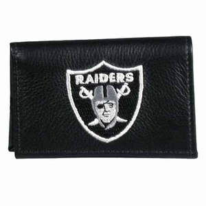 Oakland Raiders Leather Tri-fold Wallet - Click to enlarge