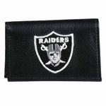 Oakland Raiders Leather Tri-fold Wallet