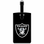 Raiders Leatherette Logo Bag Tag