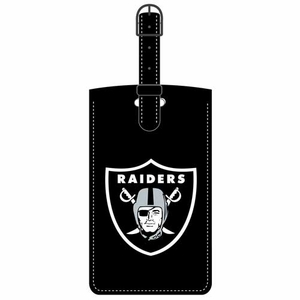 Oakland Raiders Leatherette Logo Bag Tag - Click to enlarge