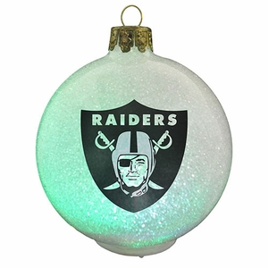 Oakland Raiders LED Color Change Ornament - Click to enlarge