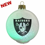 Oakland Raiders LED Color Change Ornament