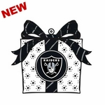 Oakland Raiders LED Present Ornament