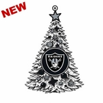 Oakland Raiders LED Tree Ornament