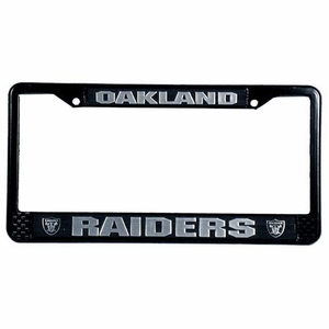 Oakland Raiders License Frame Black - Click to enlarge