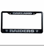 Oakland Raiders License Frame Black