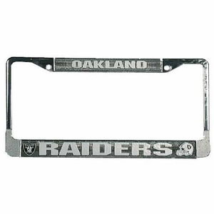 Oakland Raiders License Frame Chrome - Click to enlarge