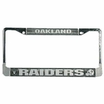 Raiders License Frame Chrome