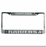 Oakland Raiders License Frame Chrome