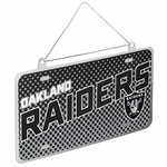 Oakland Raiders License Plate Ornament