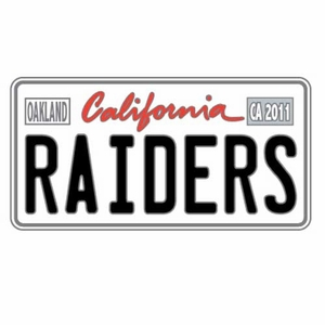 Oakland Raiders License Plate Pin - Click to enlarge