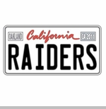 Oakland Raiders License Plate Pin