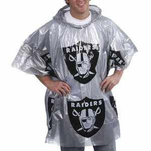 Oakland Raiders Lightweight Poncho - Click to enlarge