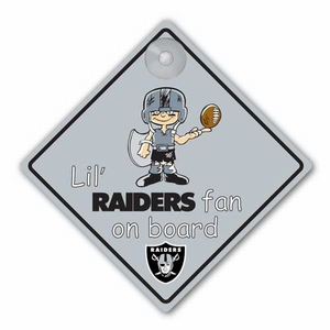 Oakland Raiders Lil Fan On Board Sign - Click to enlarge