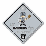 Oakland Raiders Lil Fan On Board Sign
